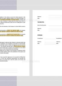 executive employment agreement with car allowance template car allowance agreement template example