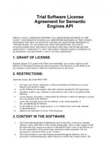 free 50 professional license agreement templates  templatelab api license agreement template excel