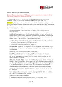 free 50 professional license agreement templates  templatelab content license agreement template sample