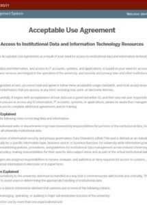 free acceptable use agreements  all iu campuses  oneiu employee technology use agreement template