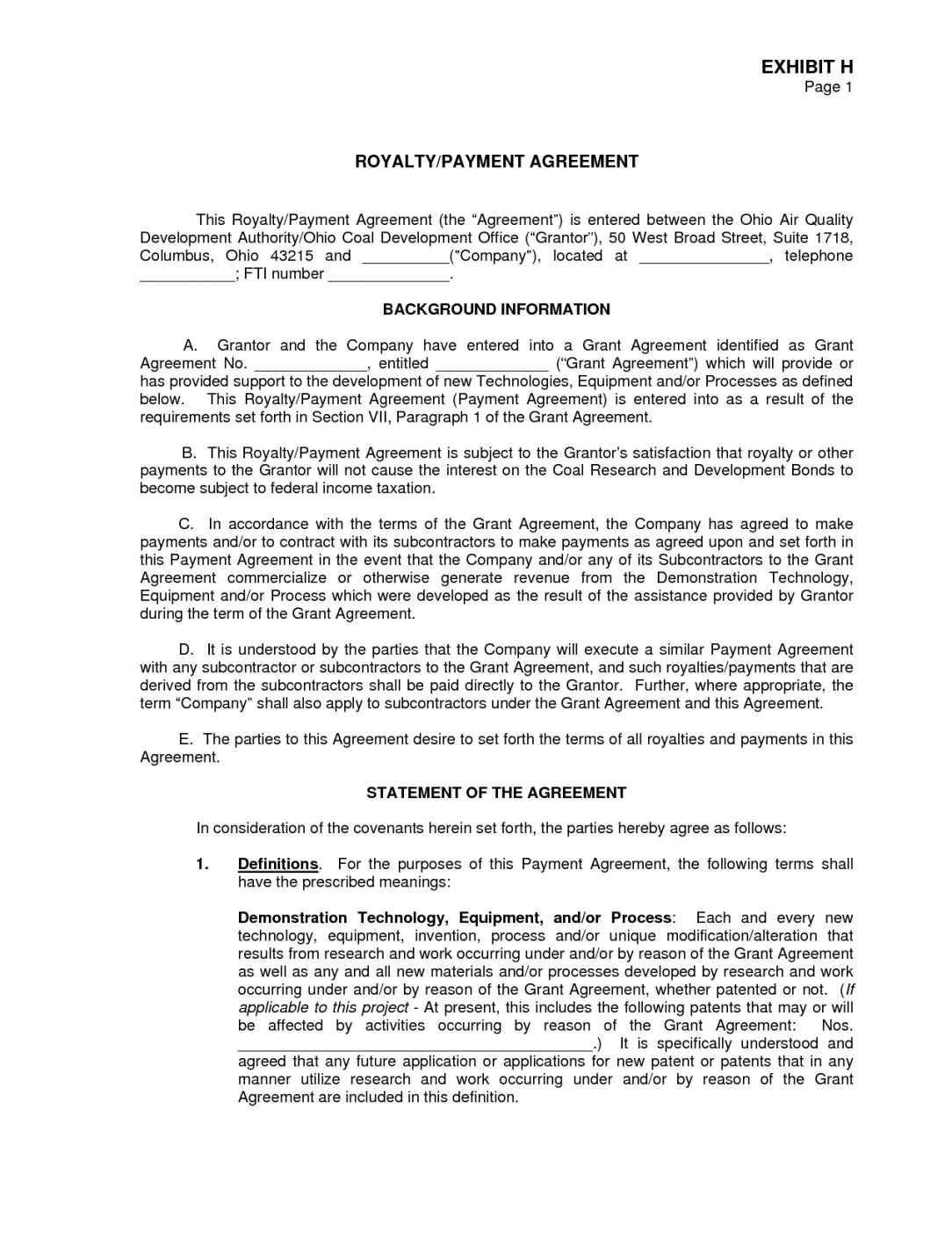 free agreement template royalty 0012207 for software licensing royalty financing agreement template word