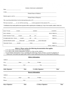 free boat purchase agreement  fill out and sign printable pdf template  signnow marine purchase agreement template sample