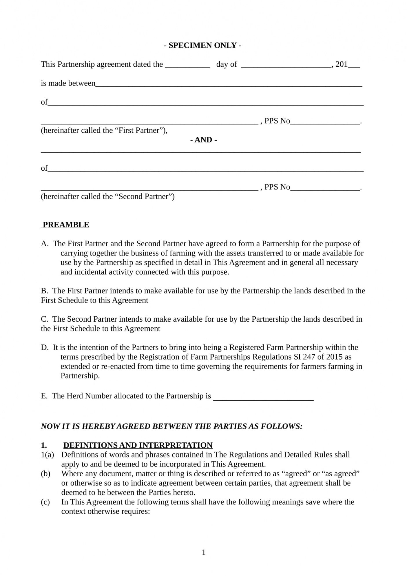 free free 7 farm contract forms in pdf  ms word  excel farming partnership agreement template example