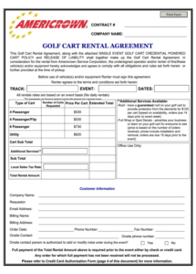 free golf cart rental agreement  fill out and sign printable pdf template   signnow golf cart rental agreement template word