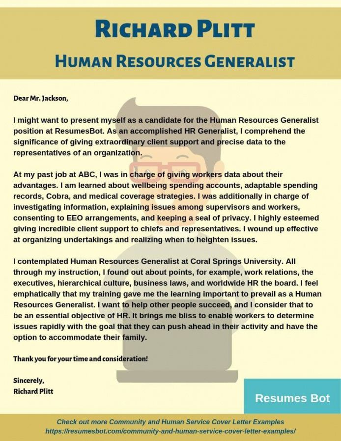 free human resources generalist cover letter example hr generalist cover letter template