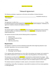 generic agreement template employee technology use agreement template excel