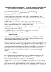 printable 50 professional license agreement templates  templatelab intellectual property license agreement template word