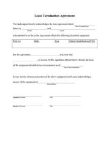 printable 9 tenancy termination letters  free samples examples cancellation of lease agreement template doc