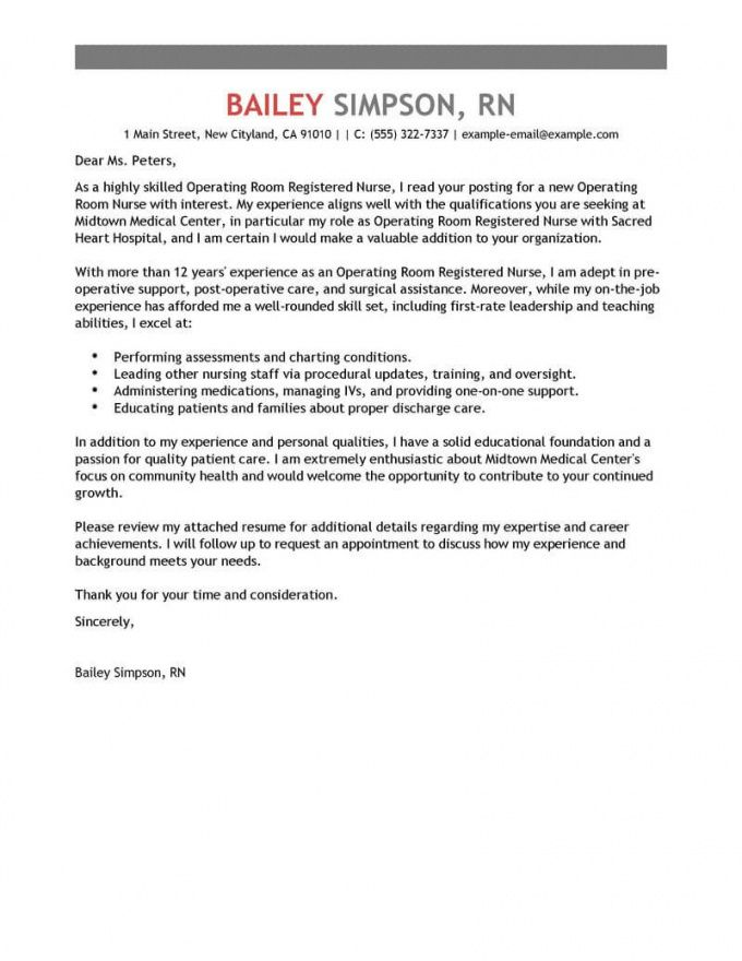 printable best operating room registered nurse cover letter examples nursing student cover letter template sample