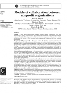 printable pdf models of collaboration between nonprofit organizations nonprofit collaboration agreement template sample