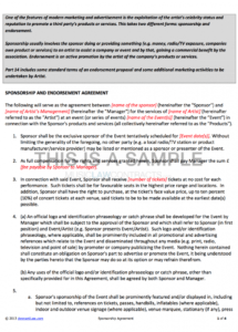 printable sponsorship contract event partnership agreement template sample