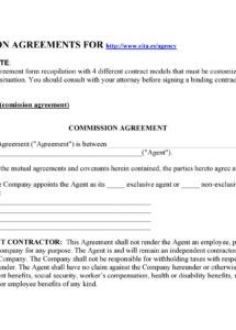 sample 36 free commission agreements sales real estate contractor commission split agreement template