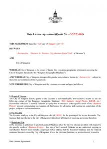 sample 50 professional license agreement templates  templatelab data license agreement template word