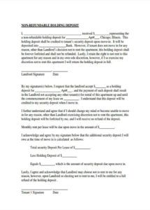 sample free 6 rental deposit forms in pdf non refundable payment agreement template doc