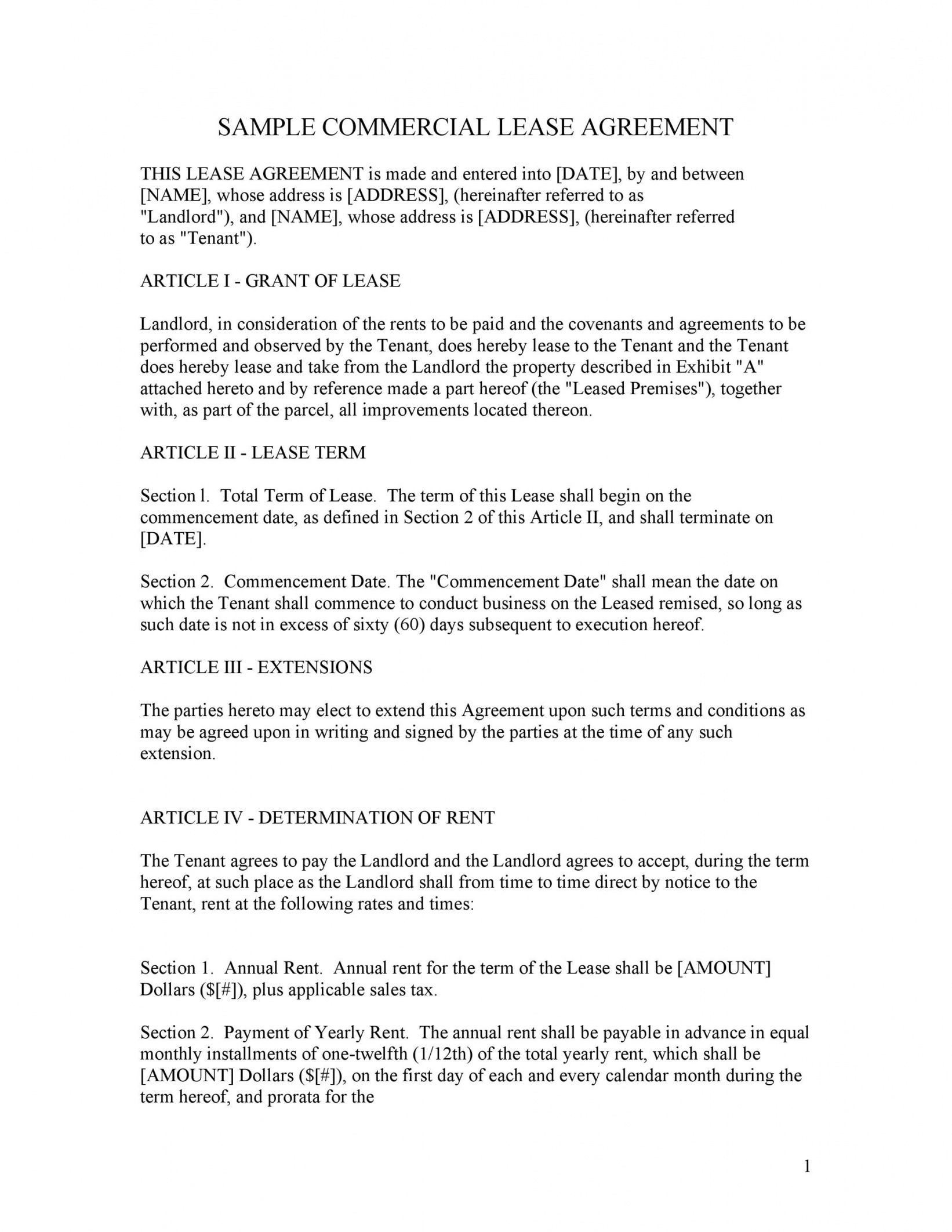 26 free commercial lease agreement templates  templatelab office rental lease agreement template pdf