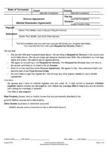 42 divorce settlement agreement templates 100% free marriage dissolution agreement template word