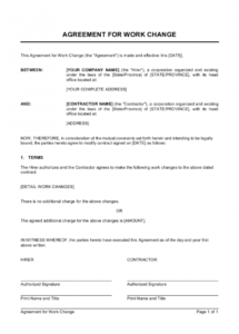 agreement for work change template  by businessinabox™ change of name agreement template