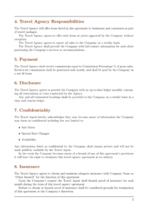 agreements  travel agency agreement template template travel services agreement template