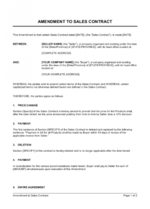 amendment to sales contract template  by businessinabox™ change of name agreement template excel