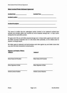 car accident agreement letter between two parties unique car car accident settlement agreement template sample