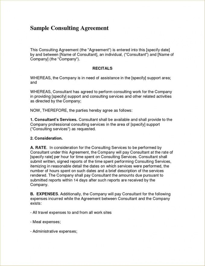 consulting contract examples to use for your business marketing consulting agreement template sample