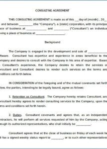 consulting service agreement template ~ addictionary software development consulting services agreement template
