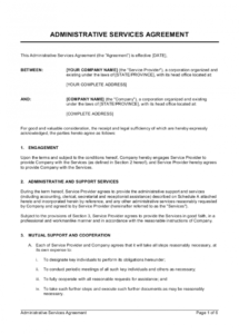 editable administrative services agreement template  by businessin administrative services agreement template