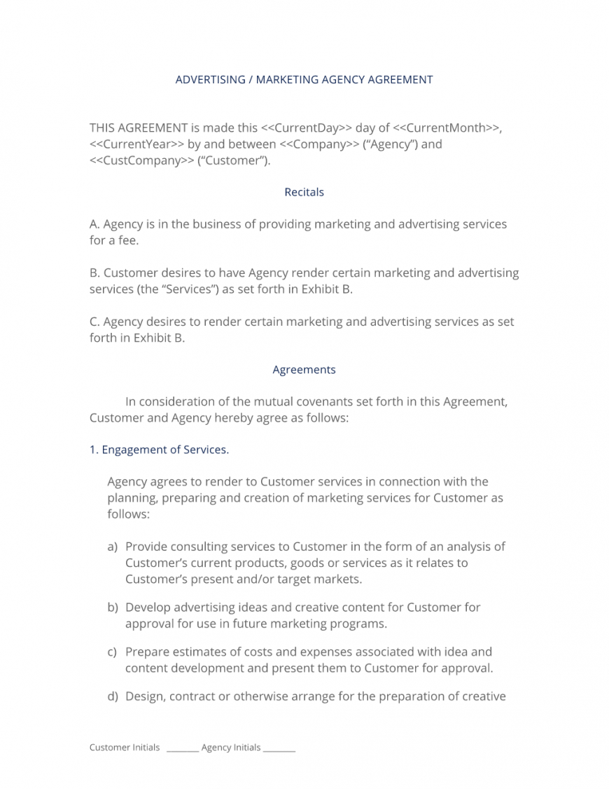 editable advertising and marketing agency contract  3 easy steps marketing consulting agreement template