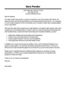 editable best legal assistant cover letter examples  livecareer legal secretary cover letter template