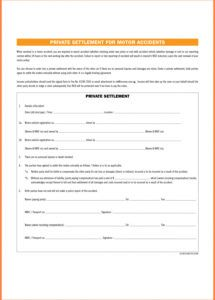 editable car accident settlement agreement form  business template car accident settlement agreement template excel
