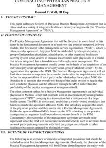 editable contracting physician practice management  pdf free download medical practice management agreement template doc