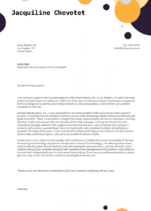 editable cosmetologist cover letter example  kickresume cosmetologist cover letter template doc