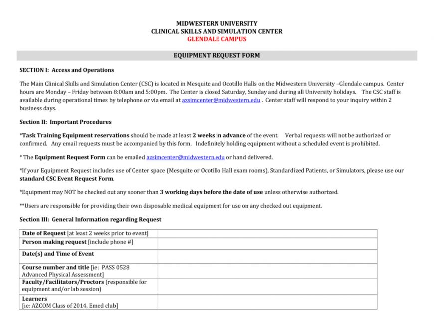 editable equipment request form and usage agreement equipment user agreement template doc