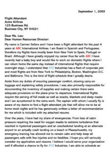 editable flight attendant cover letter sample letters & email examples airline pilot cover letter template pdf