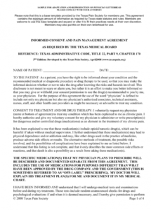 editable informed consent and pain management agreement medical practice management agreement template