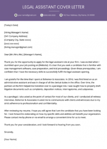 editable legal assistant cover letter example  resume genius legal assistant cover letter template pdf