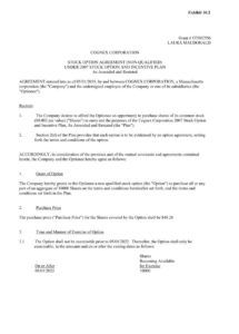 editable stock option agreement nonqualified page 2 employee stock option agreement template example