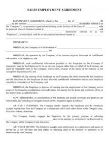 free 50 readytouse employment contracts samples & templates non profit employment agreement template word