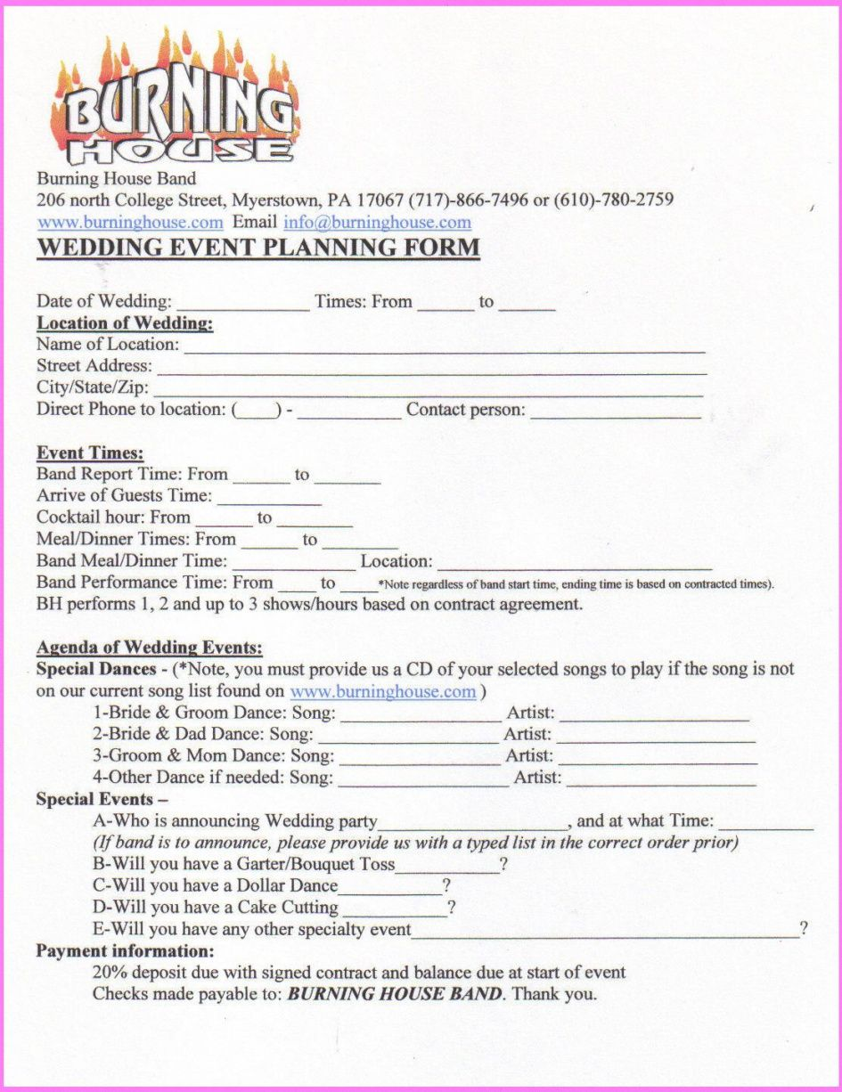 free contract for event party planning contract template pdf