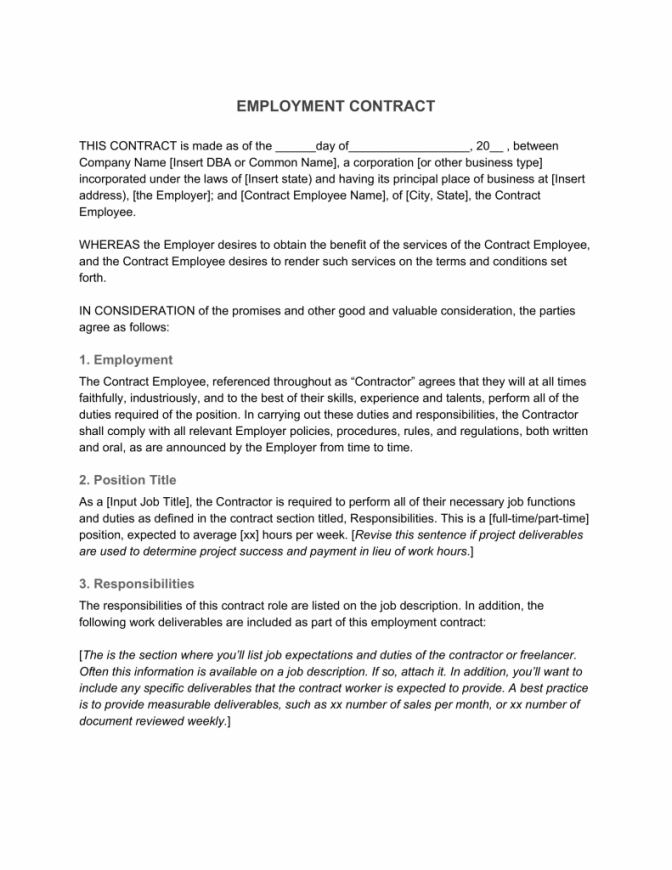 free employment contract—definition & what to include non profit employment agreement template pdf