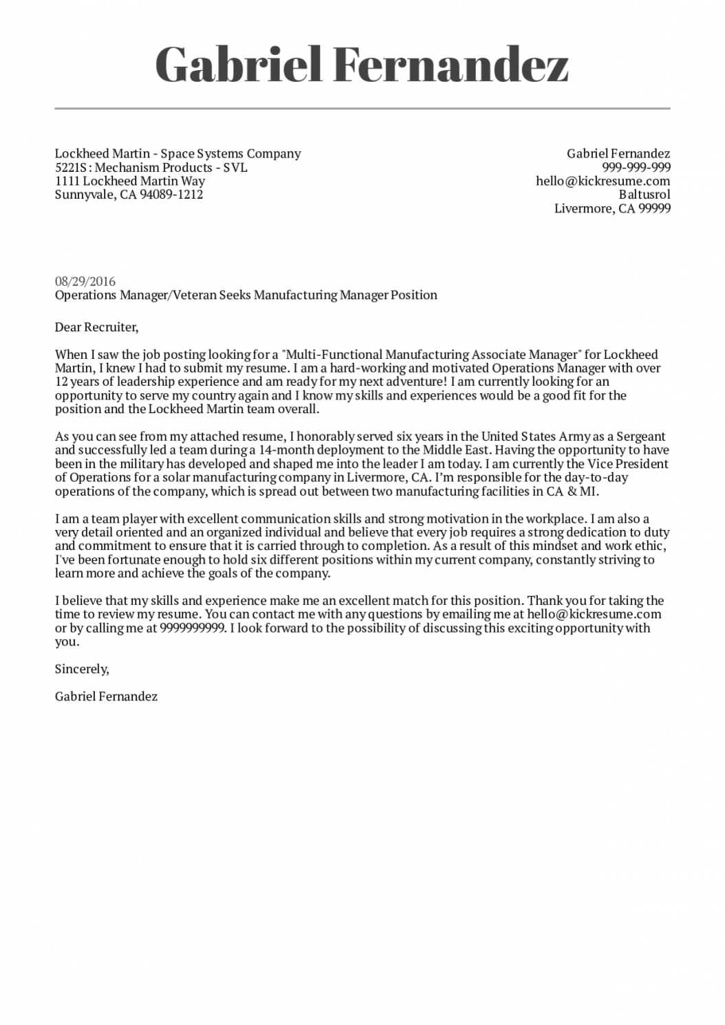 free lockheed martin manufacturing manager cover letter  kickresume office manager cover letter template pdf