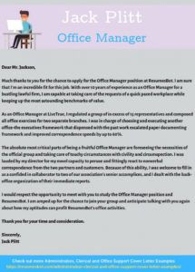free officemanagercoverletterexample office manager cover letter template pdf