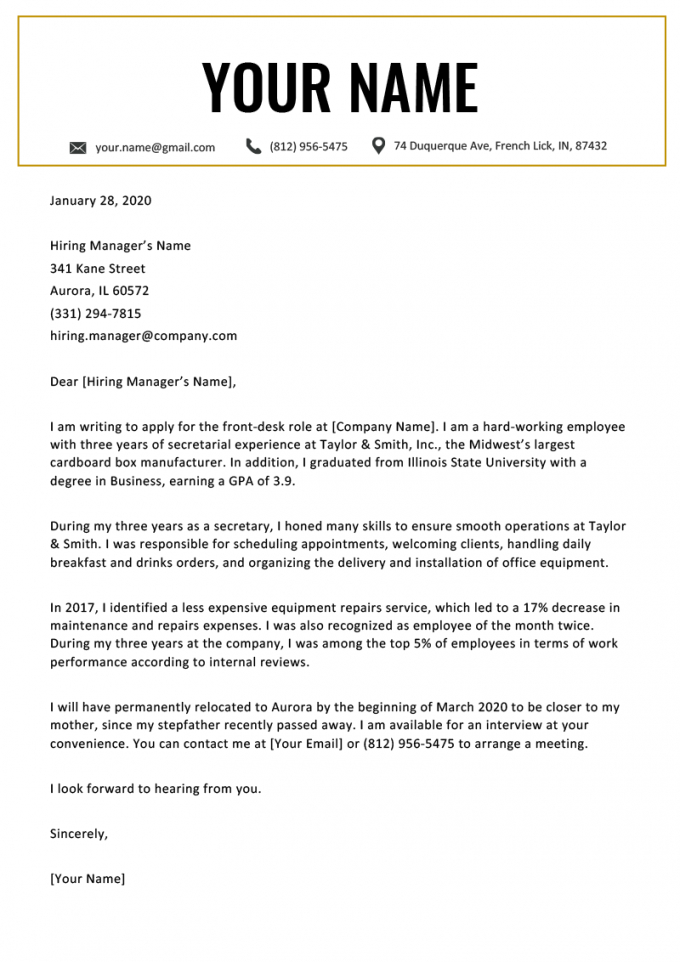 free relocation cover letter examples template & writing tips relocation cover letter template sample