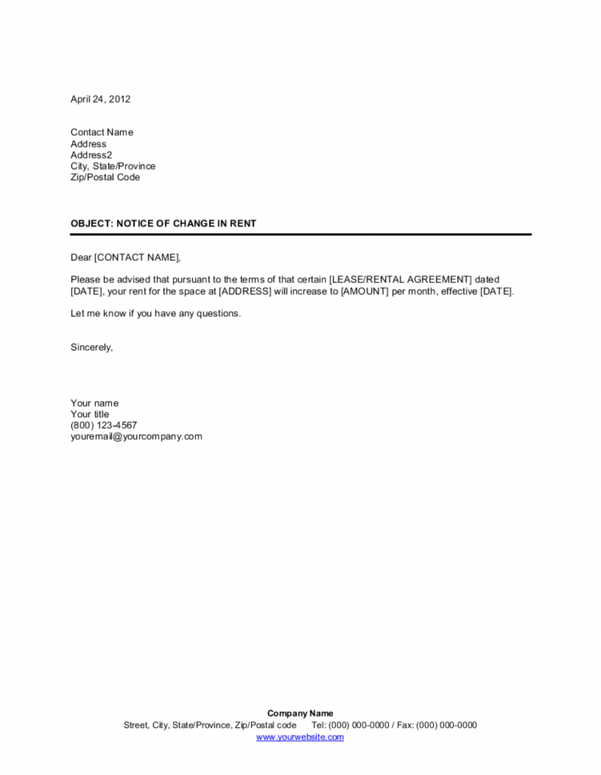 notice of change in rent template  by businessinabox™ change of name agreement template sample