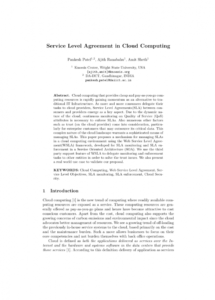 pdf service level agreement in cloud computing cloud service level agreement template sample