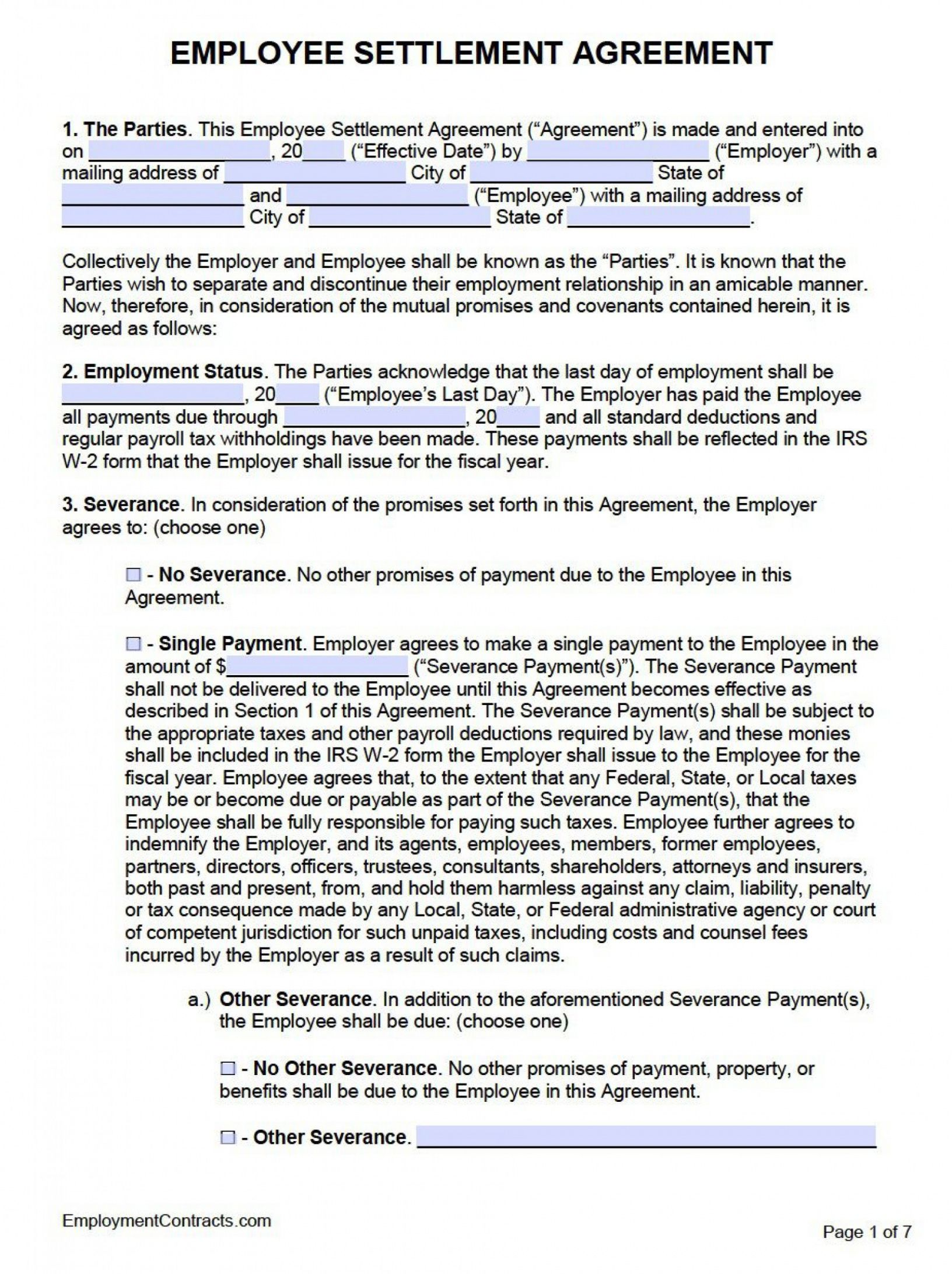 printable employment separation agreement template ~ addictionary voluntary employment separation agreement template