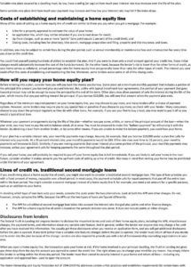 printable helochome equity loan kit  pdf free download home equity loan agreement template