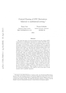 printable pdf central clearing of otc derivatives bilateral vs netting agreement template sample