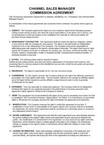sample 36 free commission agreements sales real estate contractor sales compensation agreement template word