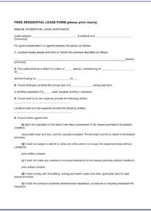 sample agricultural land lease agreement template  vincegray2014 farmland rental agreement template doc